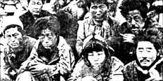 南朝鮮政府による処刑を待つ済州島民