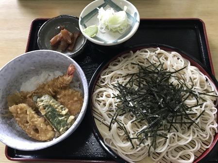 ざる&ミニ天丼セット