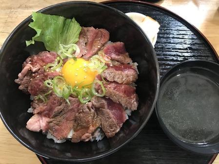 牛リブロースステーキ丼