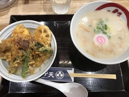 野菜天丼とらぁ麺