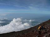 富士山からの景色。美しい