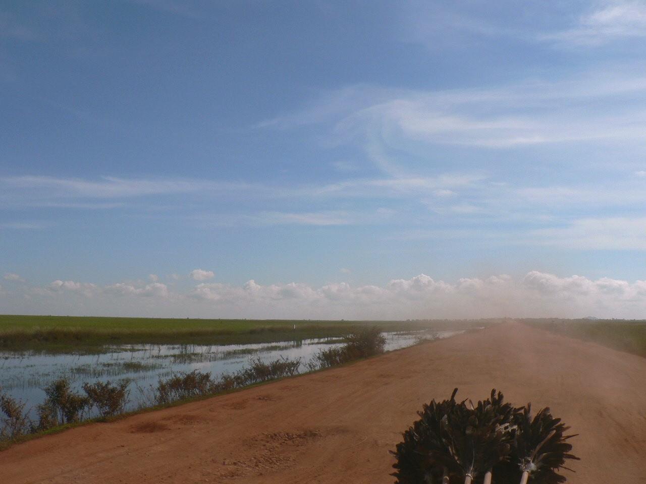 カンボジアの大草原とダンシングロード