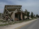 爆破された建物