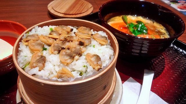 大戸屋 あさりのせいろご飯と 手創り豆腐のとろとろ煮