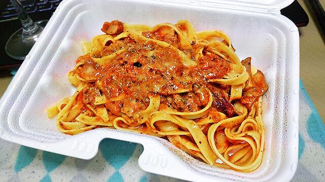 成増 テイクアウト イタリアン unita ウニタ 牛肉とポルチーニ茸のトマト煮込みソース、フェットチーネ ランチ ディナー