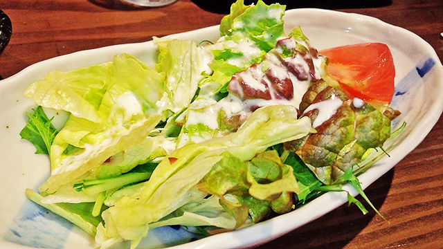 La むめい狼 ( 成増店 ) サラダ ( カツ・カレー )