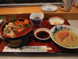 えりも町銀寿司の三色海鮮丼
