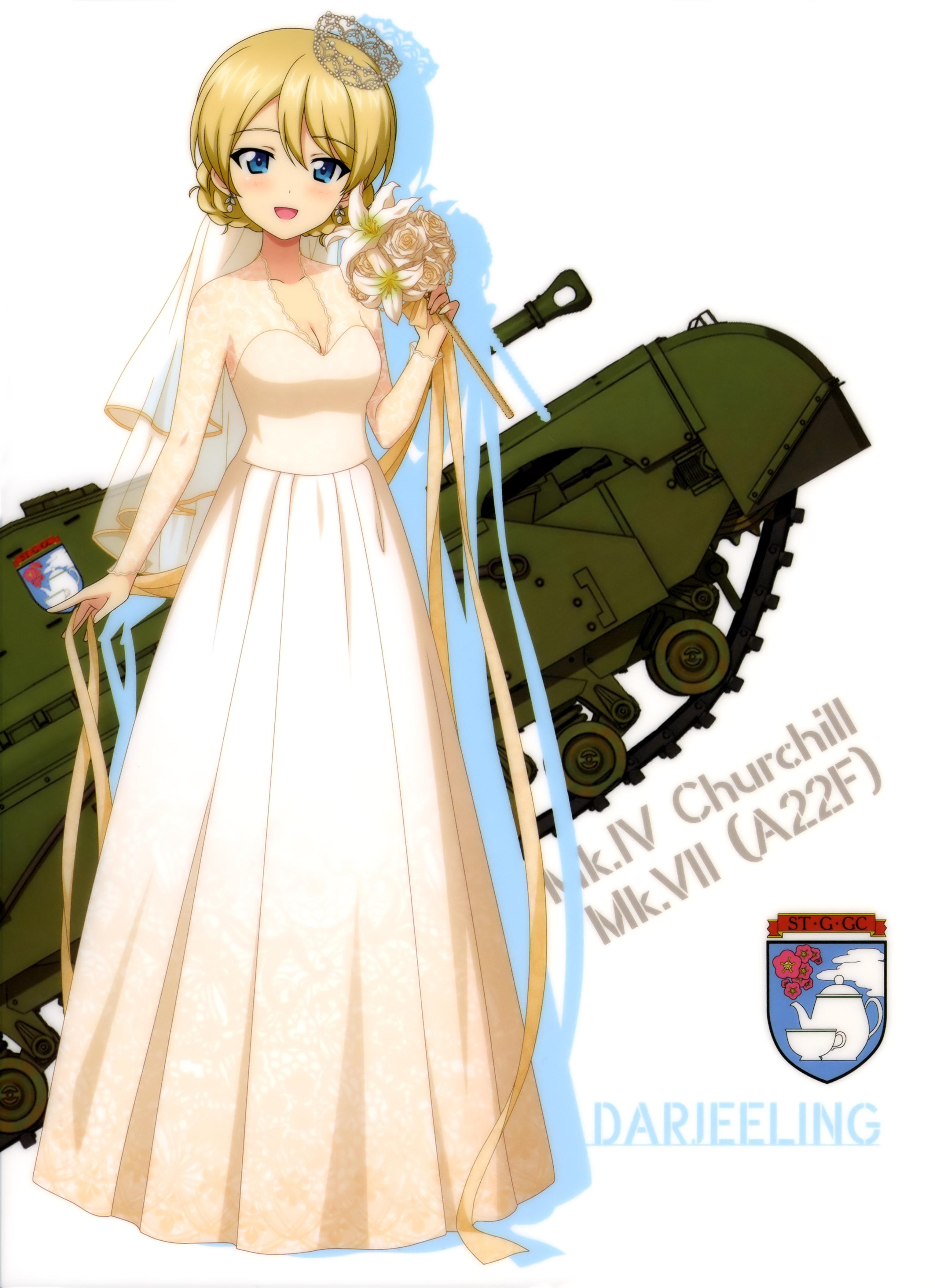 ガルパン画像 ダージリン ウェディングドレス No 210 ガールズ
