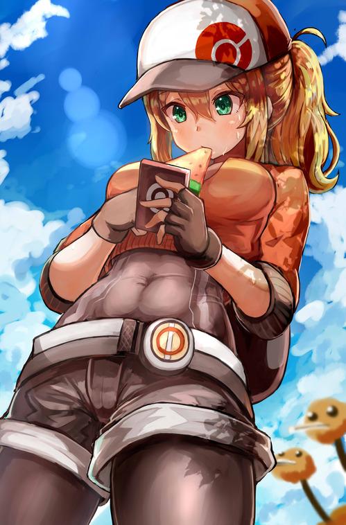 PokemonGO ポケモンGO 女トレーナー かわいい 汗だく 画像 壁紙