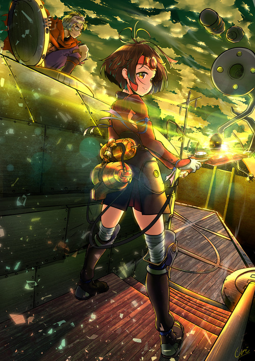 甲鉄城のカバネリ 無名 むめい 戦闘服 かわいい ロリ 画像 壁紙