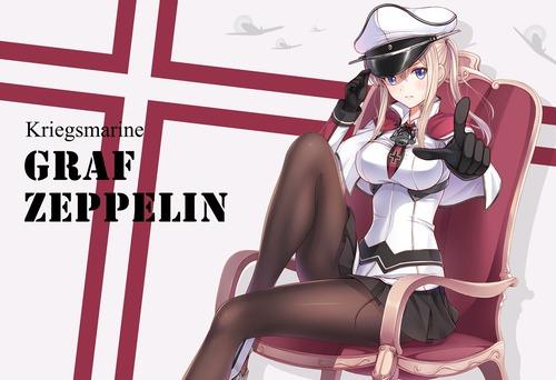 艦隊これくしょん 艦これ グラーフ・ツェッペリン ドイツ艦娘 金髪ツインテール おっぱい 画像 壁紙