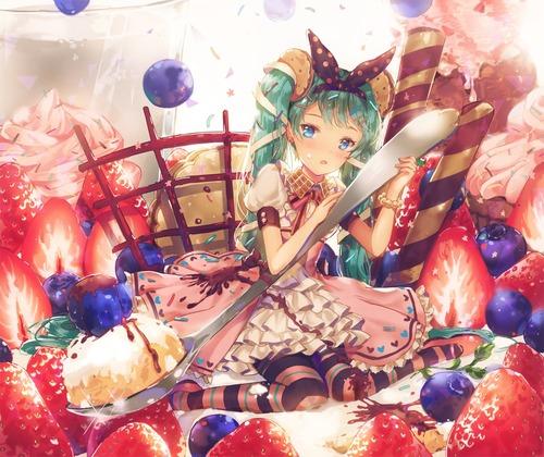 vocaloid ボーカロイド(ボカロ) 初音ミク かわいい・きれい お菓子・スイーツ 1200 1007 高画質 画像 壁紙