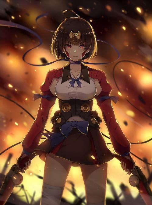 甲鉄城のカバネリ こうてつじょうのかばねり 無名 むめい 戦闘服 かっこいい かわいい 凛々しい 画像 壁紙