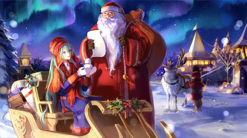 ボーカロイド 初音ミク クリスマス画像 スマホ壁紙