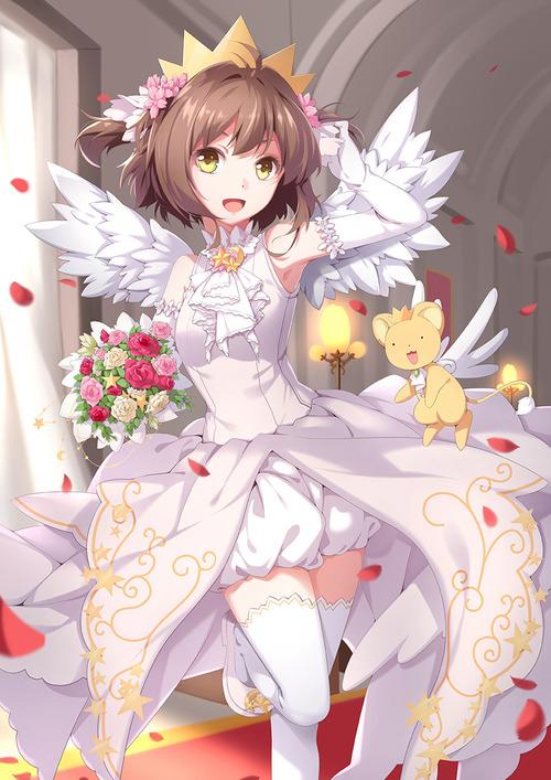 CCさくら カードキャプターさくら 木之本桜 ウエディングドレス かわいい きれい 848 1200 画像 壁紙