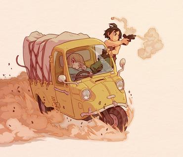 機動戦士ガンダム 鉄血のオルフェンズ アトラ・ミクスタ 三日月・オーガス 車 画像 壁紙 スマホ 携帯 待ち受け
