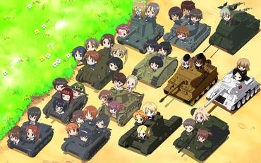ガールズ&パンツァー girls_und_panzer エンディング 戦車 画像 壁紙
