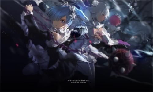 rezero リゼロ Reゼロから始める異世界生活 ラム レム エミリア イラスト 画像・壁紙