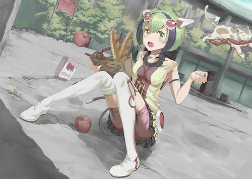 DimensionW ディメンションW ネコに食材を取られてしまう百合崎(ゆりざき)ミラ アンドロイド 画像 壁紙
