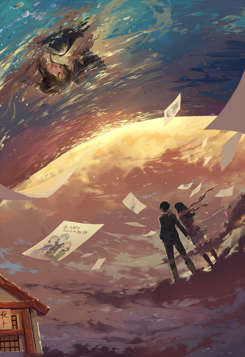 ノラガミ 空を見上げる夜トと壱岐ひより ハイセンス 高画質 画像 壁紙