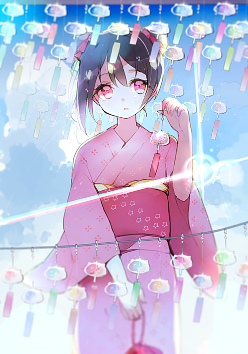 ラブライブ スクフェス 着物と風鈴と矢澤にこ 夏 画像 壁紙