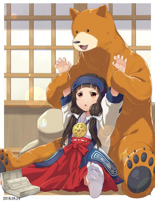 くまみこ 雨宿(あまやどり)まち クマ井ナツ ロリ 巫女 熊 画像 壁紙