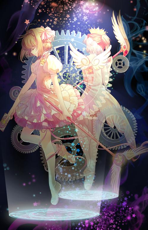 CLAMP クランプ カードキャプターさくら CCさくら 木之本桜(きのもとさくら) バトルコスチューム かわいい 封印の杖 画像 壁紙
