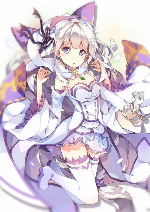 リゼロ Reゼロから始める異世界生活 エミリア EMT マジ天使 銀髪ハーフエルフ 画像 壁紙