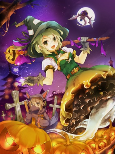 2次 二次 アニメ Halloween ハロウィン 画像 壁紙 PC スマホ 待ち受け