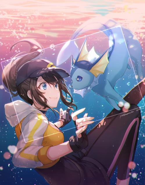 Pokemon_GO ポケモンGO 女トレーナー かわいい シャワーズ 画像 壁紙