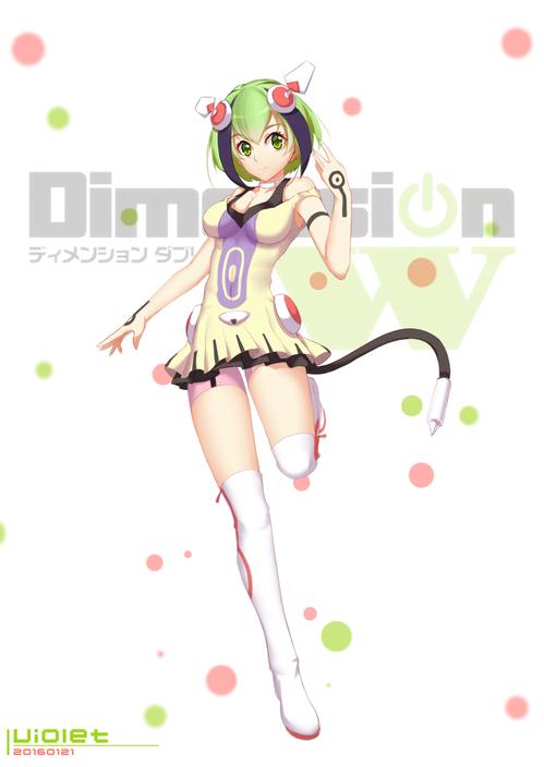 DimensionW ディメンションW 百合崎(ゆりざき)ミラ アンドロイド 画像 壁紙