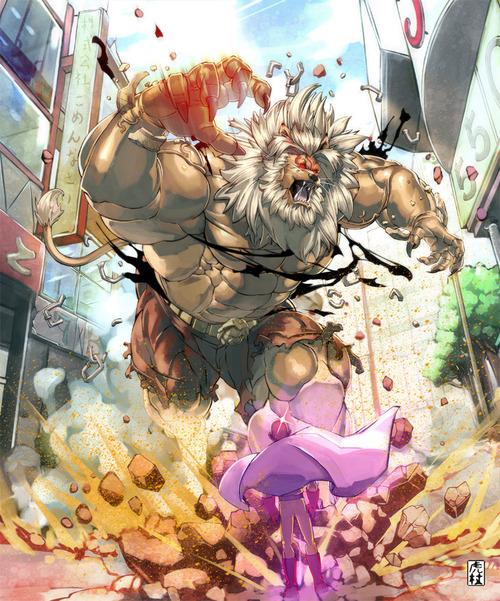 ワンパンマン 獣王 サイタマ 画像 壁紙