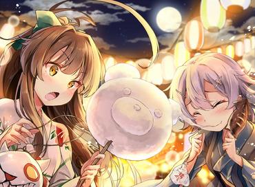 2次 艦隊これくしょん kantai_collection 艦これ kancolle 球磨 多摩 たま tama pc スマホ 横 画像 壁紙
