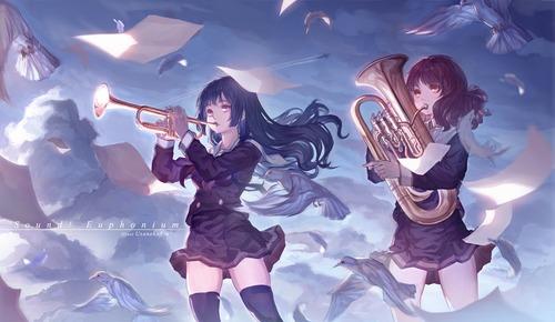 06 響けユーフォニアム 黄前久美子(おうまえくみこ) 高坂麗奈(こうさかれいな) 画像 壁紙