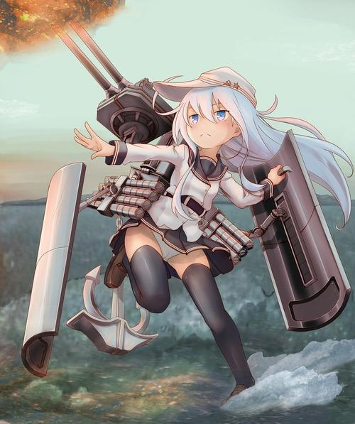 艦隊これくしょん 艦これ 第六駆逐隊・響 ヴェールヌイ 戦闘中のパンチラ 1200 1433 画像 壁紙