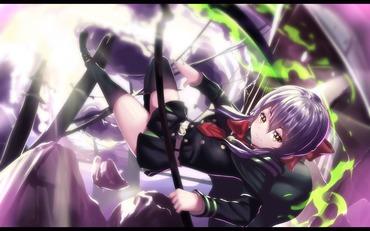 2次 終りのセラフ seraph of the end 柊シノア hiragi shinoa 月鬼ノ組 鬼呪装備 縦 画像 PC スマホ 壁紙