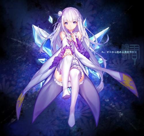 リゼロ Reゼロから始める異世界生活 エミリア かわいい EMT マジ天使 銀髪ハーフエルフ 1200 1136 画像 壁紙