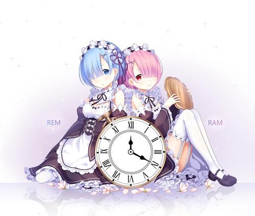 リゼロ Reゼロから始める異世界生活 レム ラム かわいい 双子 姉妹 メイド 1000 847 画像 壁紙