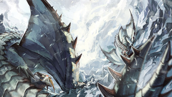 モンスターハンター monster hunter モンハン MH ベリオロス 2体 画像 壁紙