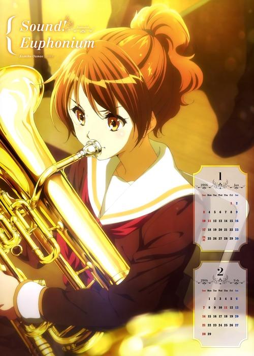 響けユーフォニアム ユーフォニアムを演奏する黄前久美子 おうまえくみこ ポニーテール 画像 壁紙