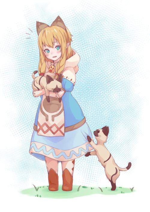 モンスターハンタークロス MHX ネコ嬢 カティ ロリかわいい画像 壁紙