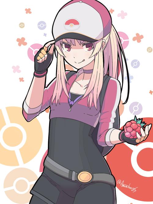 PokemonGO ポケモンGO 女トレーナー 女主人公 かわいい ズリの実 イラスト 画像 壁紙