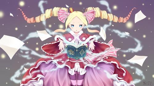rezero リゼロ Reゼロから始める異世界生活 ベアトリス・ベア子・ベティー 金髪ツインテール ドリル 幼女・ロリ 4k 4800 2700 画像・壁紙