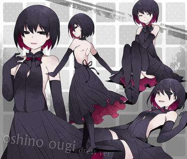 物語シリーズ 終物語 黒いドレスを着た忍野扇 画像 壁紙