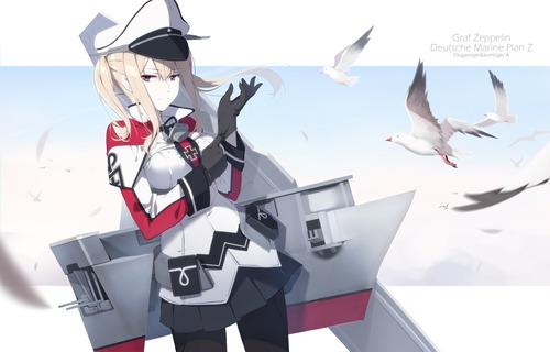 艦隊これくしょん 艦これ 凛々しいグラーフ・ツェッペリン かっこいい 画像 壁紙