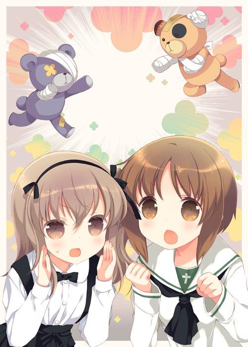 GuP ガールズ&パンツァー ガルパン 島田愛里寿(しまだありす) ボコが好きな2人 かわいい 画像 壁紙