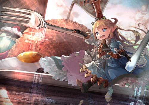 グランブルーファンタジー グラブル granblue_fantasy シャルロッテ 団長 ロリ 画像 壁紙