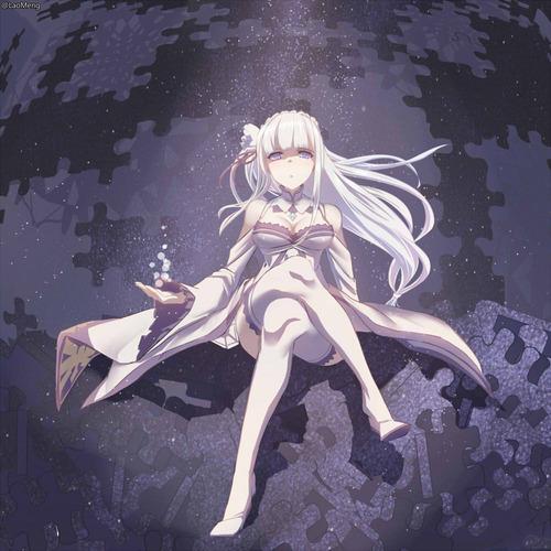 リゼロ Reゼロから始める異世界生活 エミリア かわいい EMT マジ天使 銀髪ハーフエルフ 1000 画像 壁紙