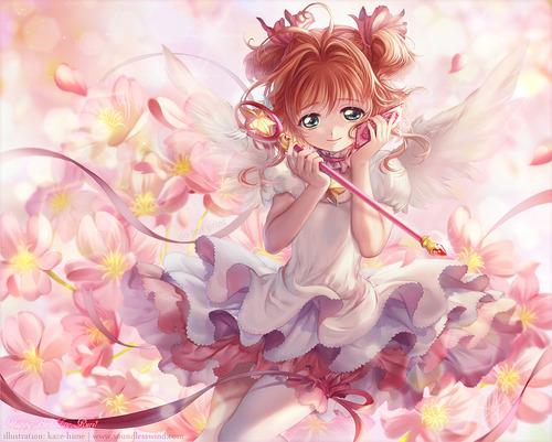 CLAMP クランプ カードキャプターさくら CCさくら 木之本桜 きのもとさくら かわいい 封印の杖 星の杖 さくらカード編 画像 壁紙