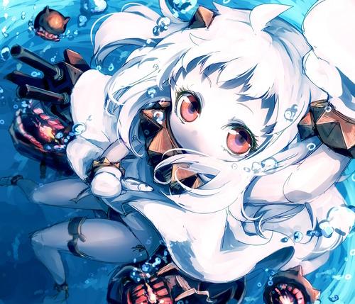 艦隊これくしょん 艦これ 深海棲艦(しんかいせいかん) 北方棲姫(ほくほうせいき) ほっぽうせいき ほっぽちゃん 画像 壁紙